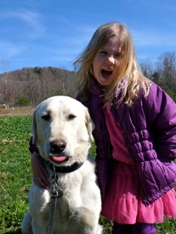 Our first livestock guardian dog, Derin. He was the best dog ever, and taught us a lot!